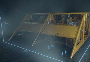 海底可燃气开采动画