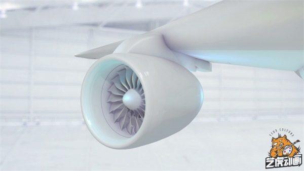 飞机发动机三维效果图