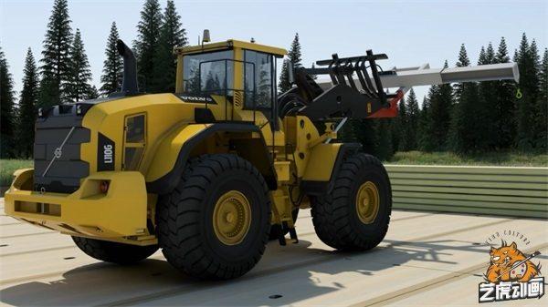 高清叉车机械产品三维动画效果图